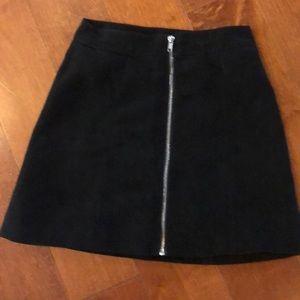 H&M SIZE 4 velvet zip up skirt!